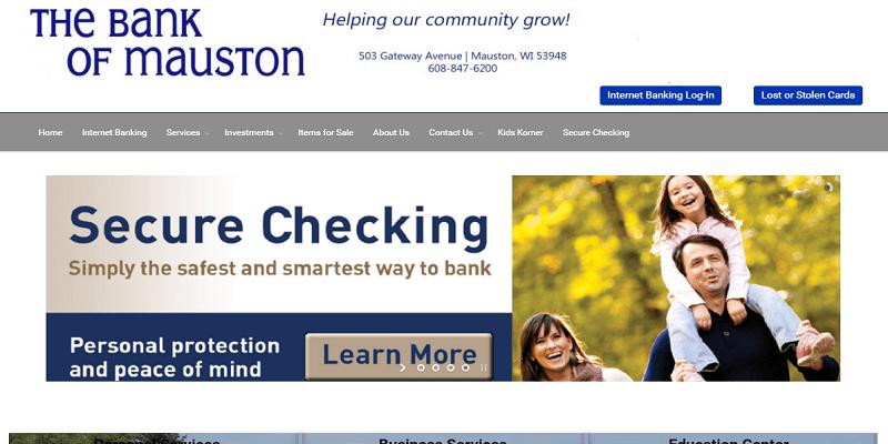 Bank Of Mauston Login Process