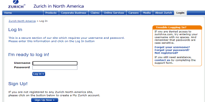 Zurich Life Insurance Login   E-Payment (Life Premiums Only)