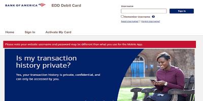 Bank Of America Edd Debit Card Login | Pay Your EDD Debit Card Bills