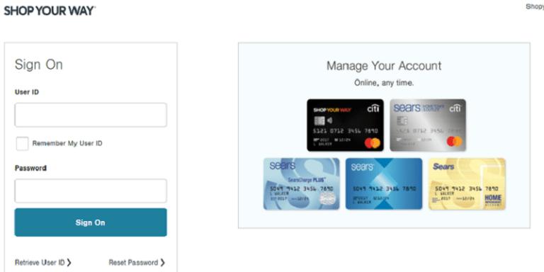 Shop Your Way Credit Card Login | Shopyourway Login Pay My Bill