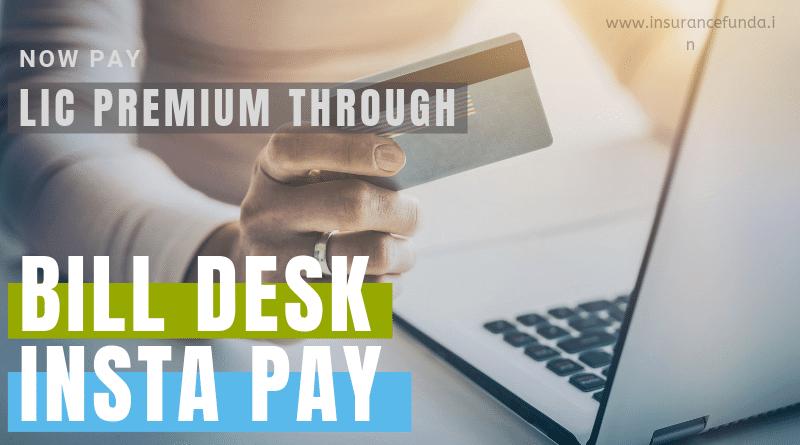Pay lic premium - Billdesk instapay
