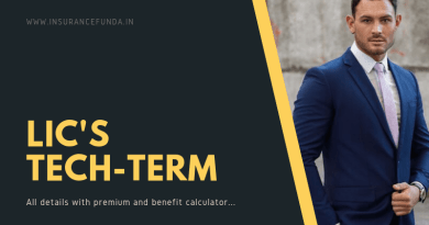 LIC Tech Term - 854 All details with premium and benefit calculators
