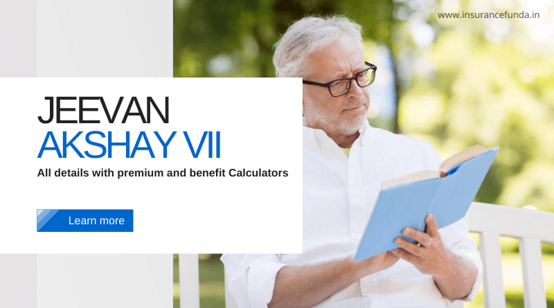 Jeevan Akshay Plan 857 all details with premium and benefit calculators