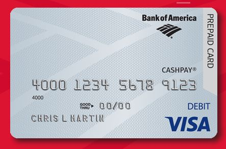 Activate Bank of America CashPay Visa Card