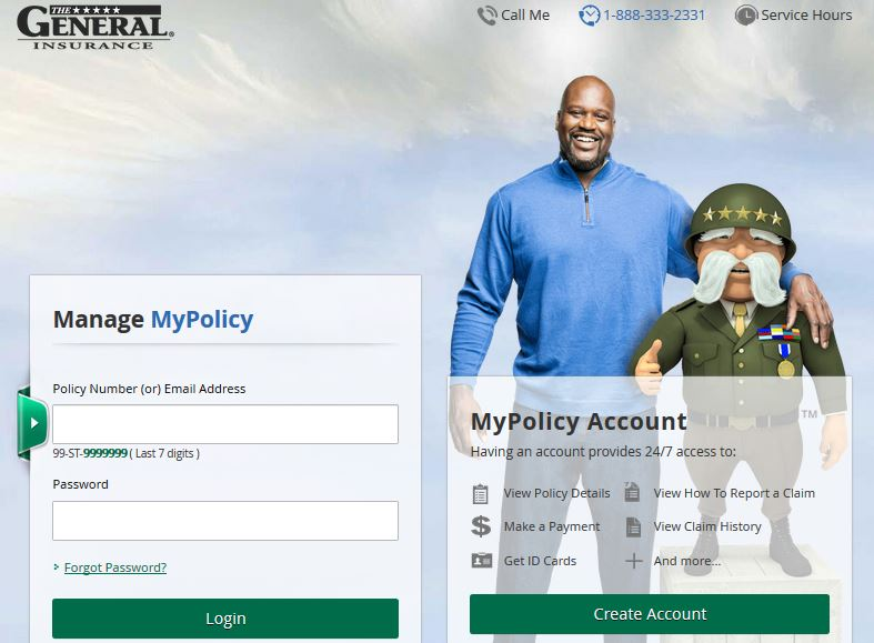 The General Auto Insurance Login