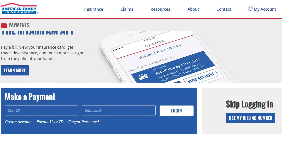 American Family Insurance Payment