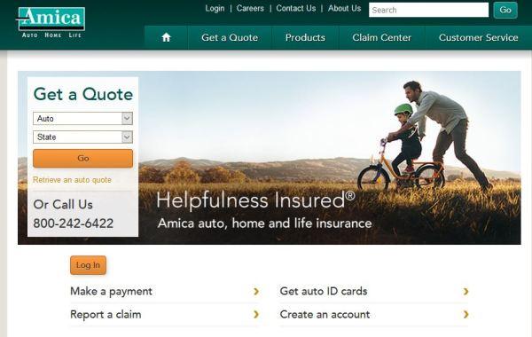 Amica Auto Insurance Login