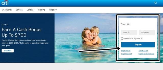 Citibank Online Banking Registration