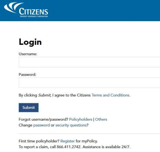 Citizens Property Insurance Login