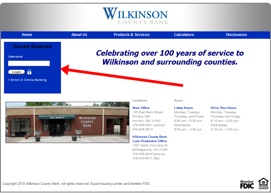 Wilkinson County Bank Bill Payment