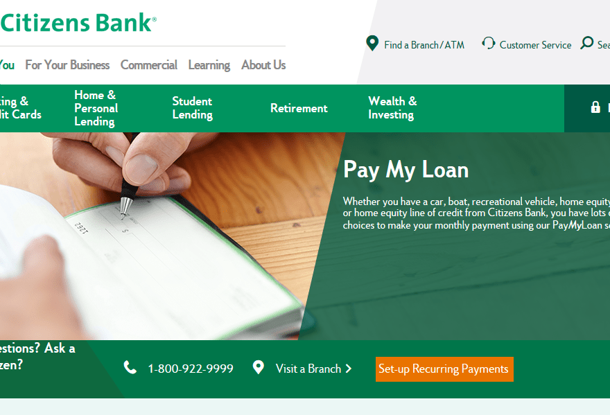 www.citizensbank.com/paymyloan