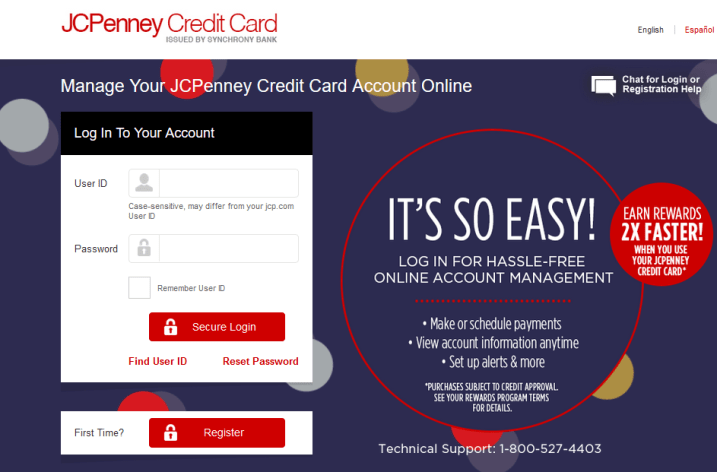 JCPenney Credit Card Login