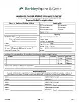 Equine Liability Application – 09-17