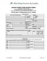 Equine Liability Program Application – Florida – 09-17