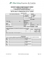 Equine Liability Program Application – Florida – 09-17