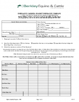 Equine Liability Program – Horse Riding Club Application – 09-17
