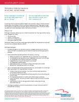 Flyer – Workplace Violence Insurance Sell Sheet
