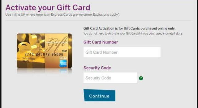 American Express Gift Cards Activation