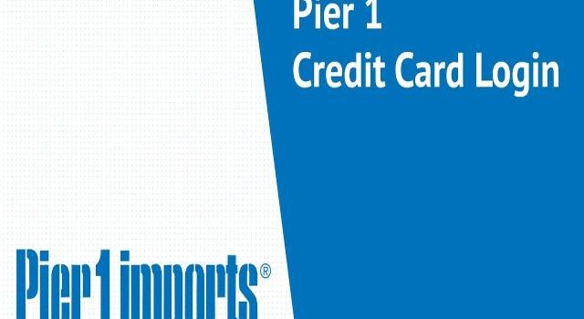 Pier 1 Credit Card login