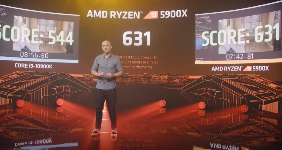 First desktop CPU to break 600 scores in Single Thread Performance Ryzen 9 5900x Scores 631
