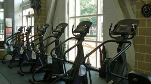 room full of treadmills