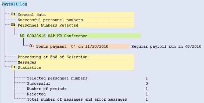 payroll log error