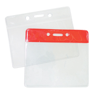 Clear or Colored Badge Holders