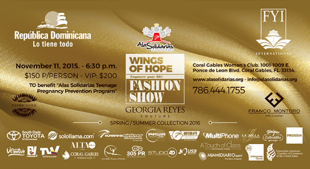 alas solidarios wings of hope fashion show miami integrate news
