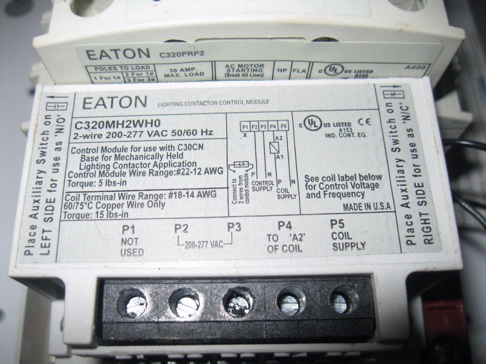 cutler hammer ecc04c2hba 12p 30a 277v c320mh2wh0 lighting contactor 2yr warranty