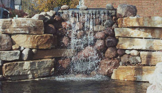 Consider a waterfall for your back yard.
