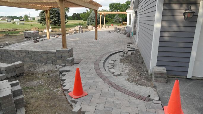 Decorative Brick Inlay in Franklin, WI by Integrity Landscape