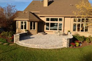 Elevated Patio With Steps in Mukwonago WI