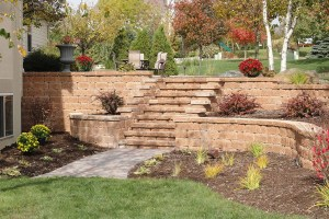 Tiered Retaining Walls Installation in Franklin WI