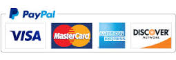 paypal, credit cards