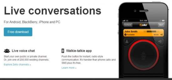 O push-to-talk no seu smarthphone