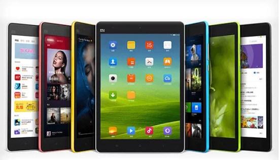 Xiaomi MiPad um tablet de plastico com cara de iPhone 5C