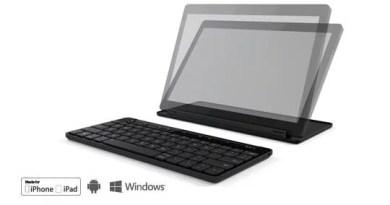 Universal Mobile Keyboard, compatível com todos os sistemas operacionais móveis.