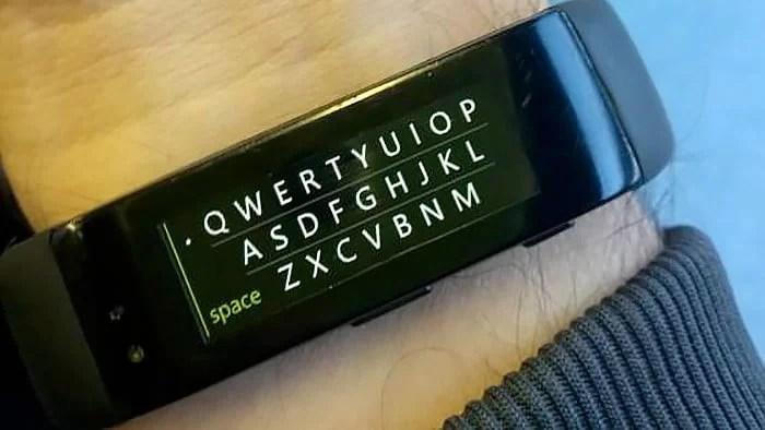 Porque será que teremos teclado na Microsoft Band ?
