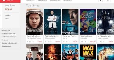 Catálogo do Google Play Filmes