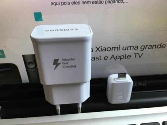 Dongle e carregador turbo do Samsung Galaxy S7