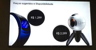 Gear Fit 2 e Gear 360 e seus preços