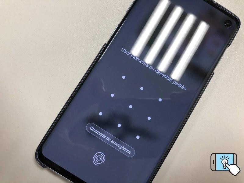 Galaxy S10 com desbloqueio por digital na tela