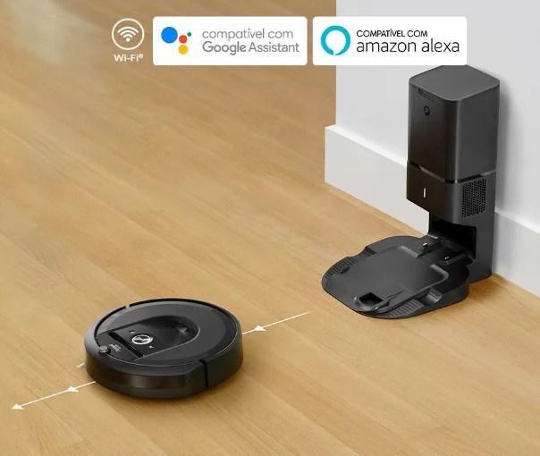 Roomba i7+ com comandos de voz, Wi-Fi, Google e Amazon
