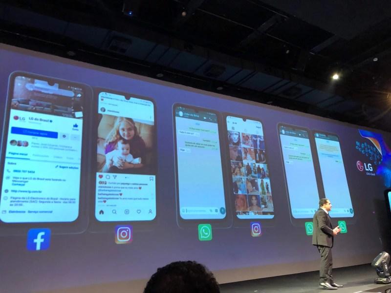A LG adaptou que o software para rodar duas aplicações ao mesmo tempo