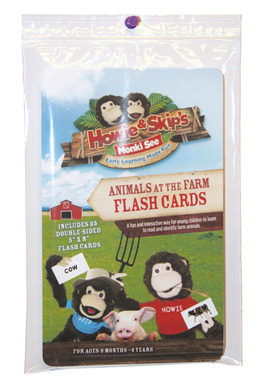 animals at the farm flash cards
