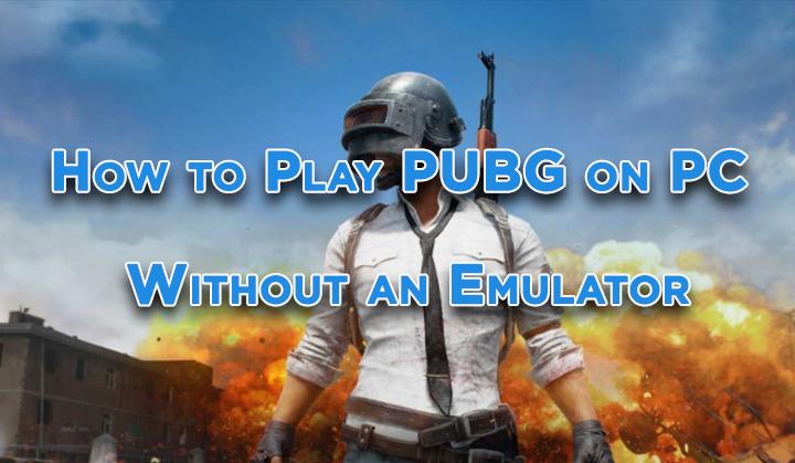 Как играть в PUBG на ПК без эмулятора