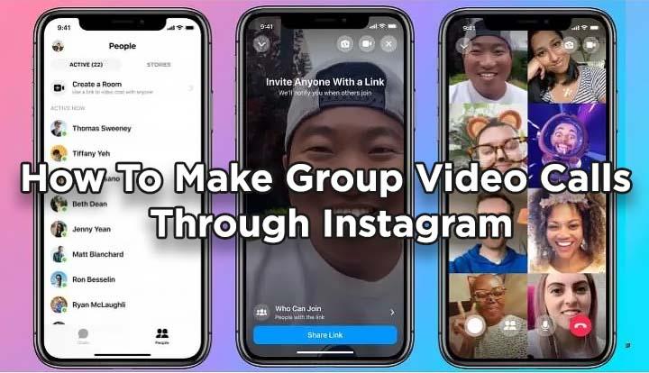 Как совершать групповые видеозвонки через Instagram