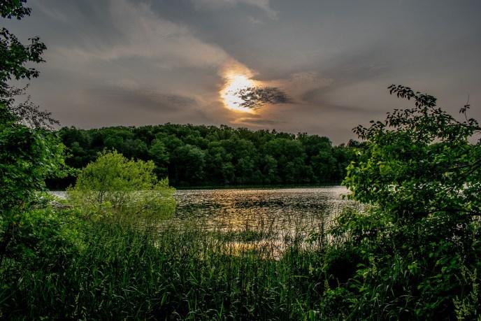 Fire Behind the Clouds ~ Lake Marburg