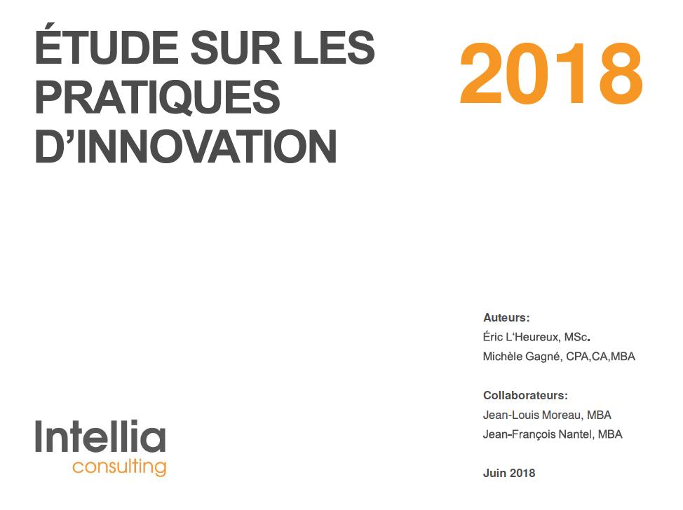 Étude sur les pratiques d'innovation 2018