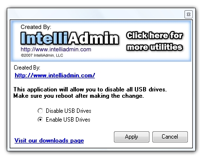USB Enable/Disable